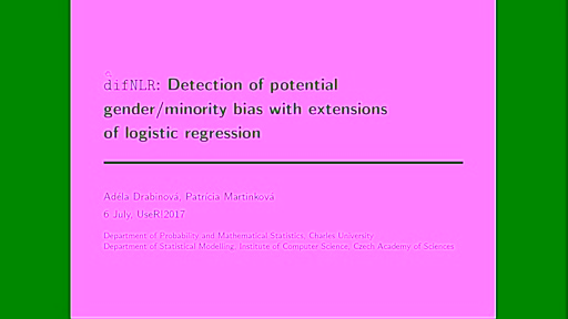 difNLR: Detection of potentional gender/minority bias with extensions of logistic regression