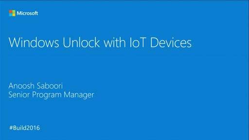 Windows Unlock with IoT Devices