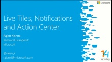 Tiles, Notificaties en het Actiecentrum in Windows Phone 8.1 apps