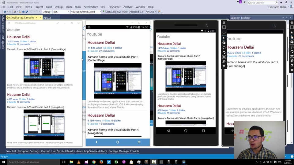 Using Youtube API with Xamarin Forms