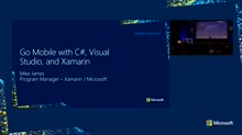 Go Mobile with C#, Visual Studio, and Xamarin