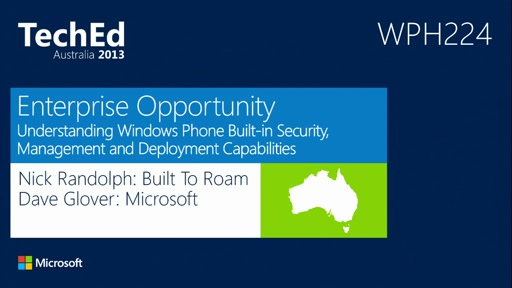 Enterprise Opportunity: Windows Phone Built-in Security, Management and Deployment