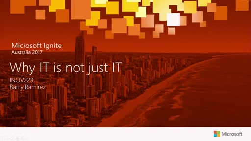 Why IT is not just IT - Presented by Telstra