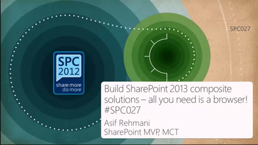 Build SharePoint 2013 composite solutions - all you need is a browser!