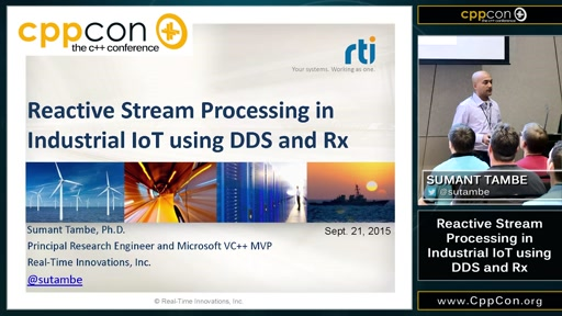Reactive Stream Processing in Industrial IoT using DDS and Rx