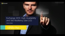 Exchange 2013: High Availability og Site Resiliency (Del 2)