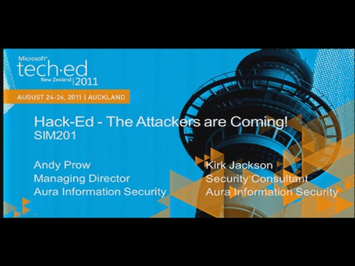 2011 Hack-Ed - The Attackers are coming!