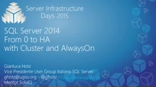 SQL Server 2014: From 0 to HA with Cluster and AlwaysOn - DB02