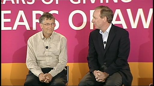 Bill Gates, Steve Ballmer and Brad Smith: Microsoft Giving Campaign 30 Years Celebration - Oct. 18, 2012