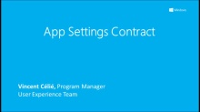 App Settings Contract