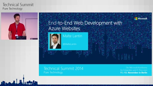 End-to-End Web Development mit Azure Websites