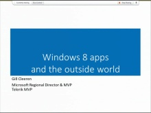 Windows 8 Apps and the Outside World