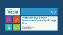 Microsoft SQL Server Database Private Cloud Deep Dive