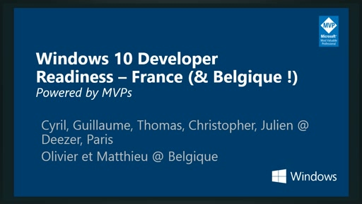 Windows 10 Developer Readiness [France]