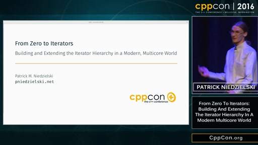 "CppCon 2016: ""Building and Extending the Iterator Hierarchy in a Modern, Multicore World"""