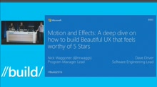Motion & Effects: A Deep Dive on How to Create Beautiful UX That is Worthy of 5 Stars
