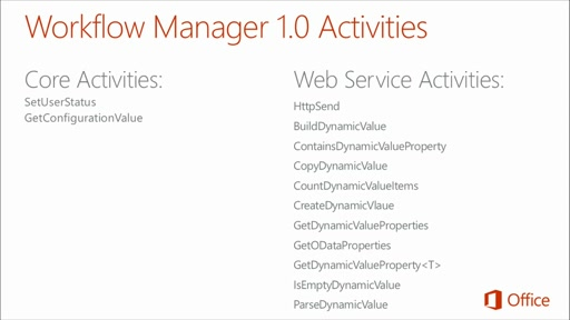 Deep Dive Building Blocks and Services of SharePoint: (01) ​Developing Advanced Workflow Scenarios in Office 365