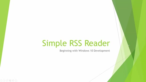 01 - Tuan Tran Van - EP4 - Beginning with Windows 10 Development - Creating first App: Simple RSS Reader