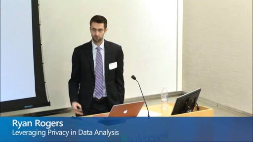 Leveraging Privacy in Data Analysis