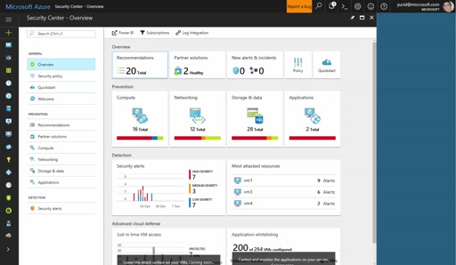 Updated Azure Security Center Dashboard