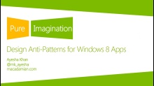 Design Anti-Patterns for Windows 8 Apps