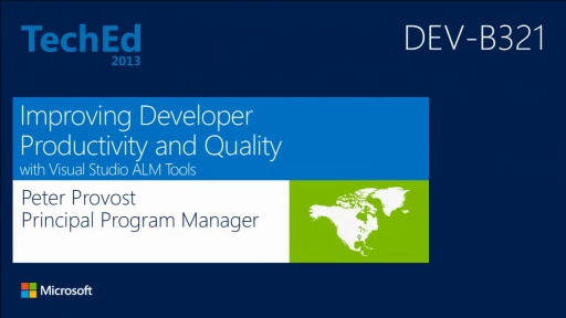 Improving Developer Productivity and Software Quality with Microsoft Visual Studio Application Lifecycle Tools