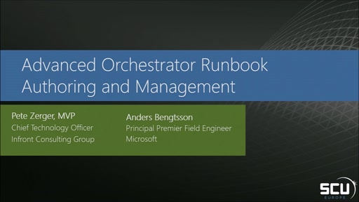 Advanced Orchestrator Runbook Authoring and Management