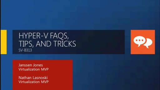 Windows Server 2008 R2 Hyper-V FAQs, Tips, and Tricks