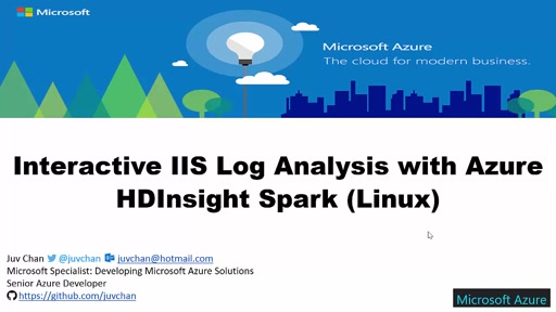 02 Juv Chan -Interactive IIS Log Analysis with Azure HDInsight Spark (Linux)