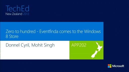 Zero to Hundred - EventFinda comes to the Windows 8 store