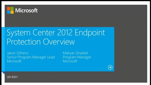 System Center 2012 Endpoint Protection Integration With Configuration Manager 2012 SP1