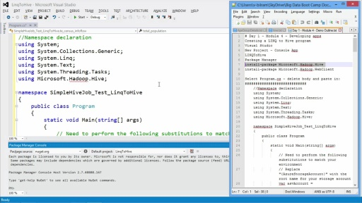 Getting Started with Microsoft Big Data: (04) Developing Big Data Applications with .NET