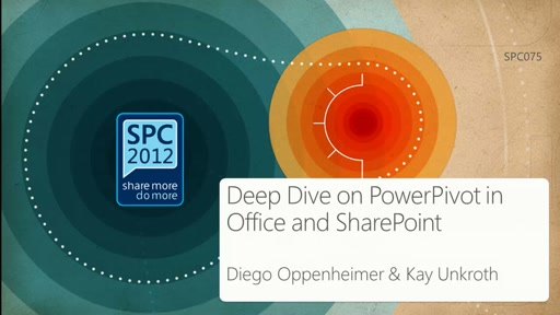 Deep Dive on PowerPivot in Office and SharePoint