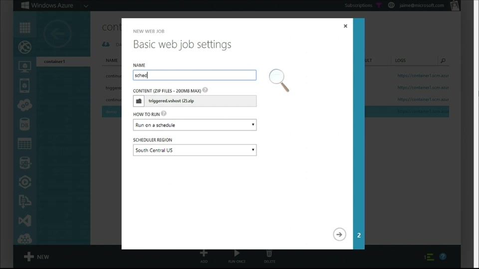 Azure WebJobs 102 - Scheduled WebJobs and the WebJobs Dashboard with Jamie Espinosa