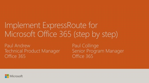 Implement ExpressRoute for Microsoft Office 365 (step by step)