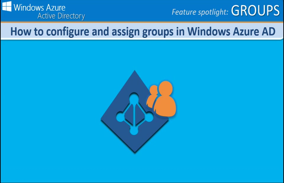 How to configure and assign groups in Windows Azure AD