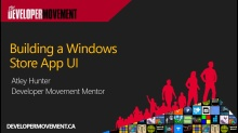 Building a Windows 8 UI