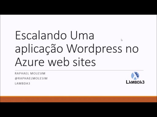 Preparando o Wordpress para escalar no Azure