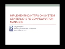 Implementing HTTPS on Configuration Manager 2012 R2 - Part 1 Implementing Certificate Authority