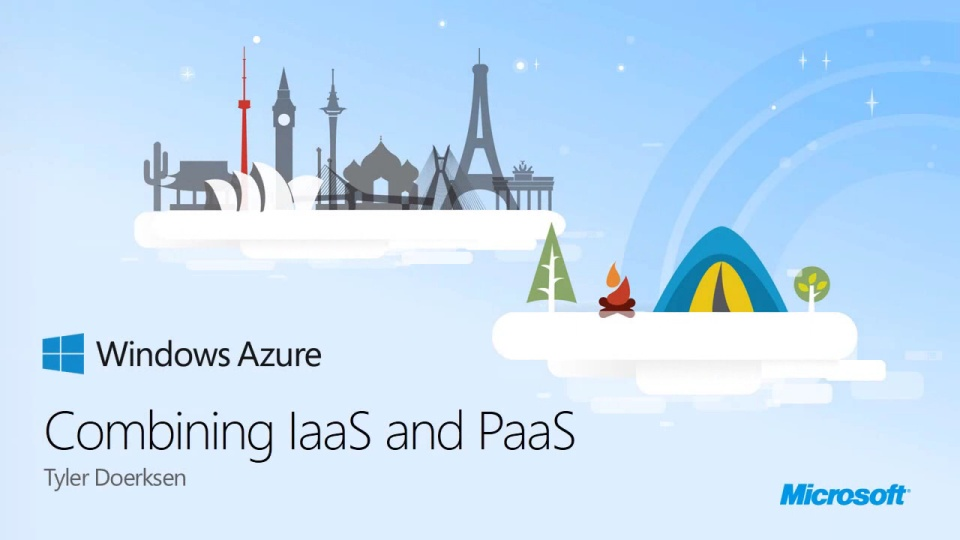 Combining IaaS and PaaS