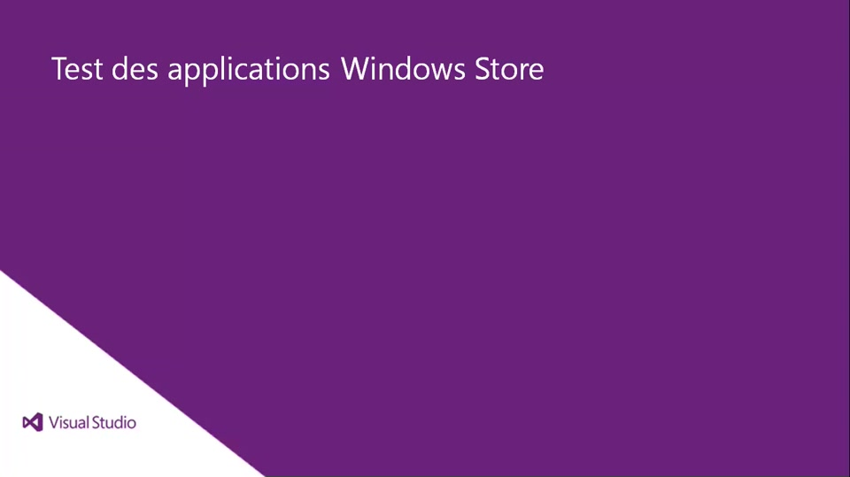 Visual Studio 2013 Ultimate: Test des applications Windows Store