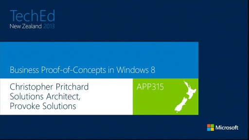 Business Proof-of-Concepts using Windows 8