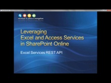 Session 5 - Part 3 - Leveraging the Excel REST API