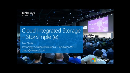 Cloud Integrated Storage – StorSimple (e)