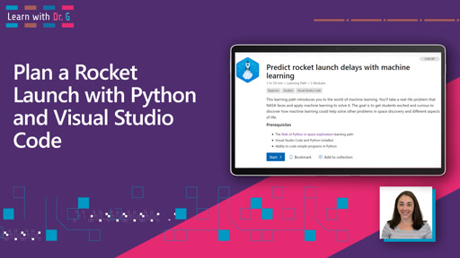 Plan a Rocket Launch with Python and Visual Studio Code | Learn with Dr G