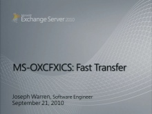 Exchange Fast Transfer