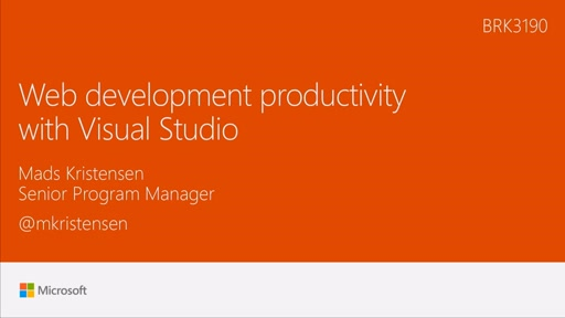 Maximize web development productivity with Visual Studio