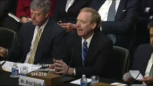 Brad Smith: US Senate Testimony on Border Security, Economic Opportunity and Immigration Act