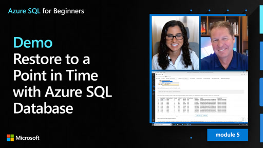 Demo: Restore to a Point in Time with Azure SQL Database (47 of 61)