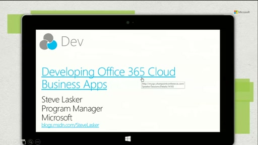 Developing Office 365 Cloud Business Apps